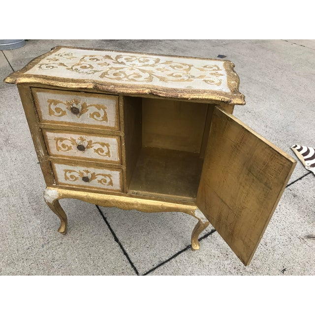 Italian Florentine Gold Cabinet For Sale In Nashville - Image 6 of 6