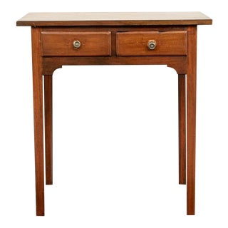 Antique Walnut Side Table - Lovely Small Scale Desk For Sale