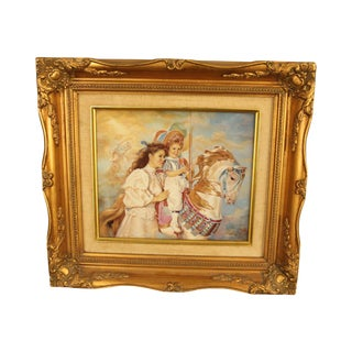 "Sandra Kuck ""Memories"" Signed Porcelain Plaque Painting, Limited Edition For Sale"
