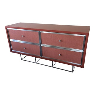 Custom Modern Red Credenza For Sale