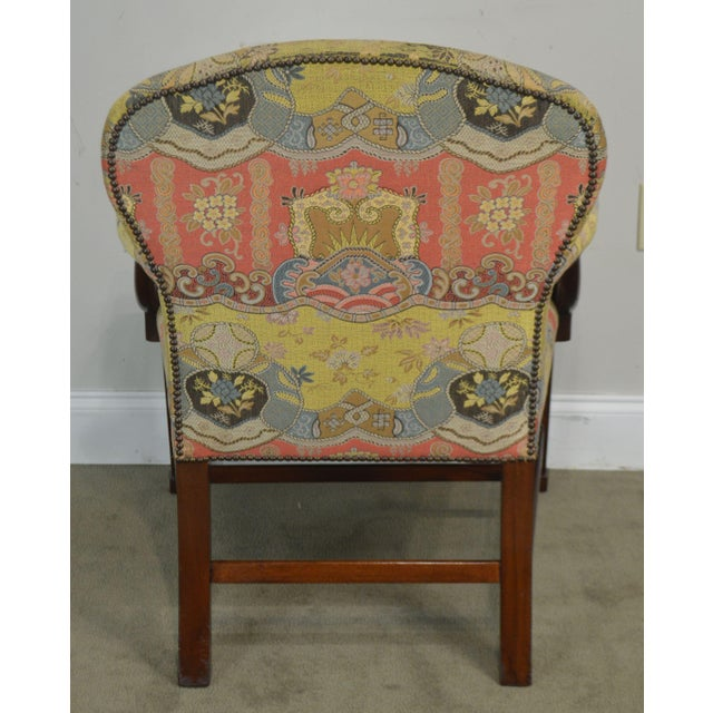 Smith & Watson Hepplewhite Mahogany Pair Open Armchairs For Sale In Philadelphia - Image 6 of 13