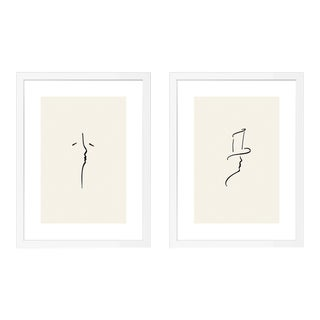 Alexander & Beloved Diptych by Katerina Christina in White Frame, XS Art Print For Sale