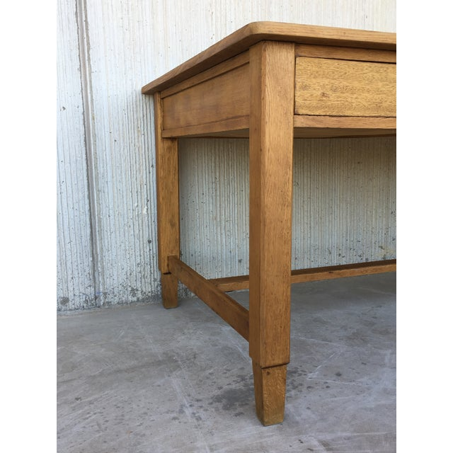 Mid Century Modern Pine Desk With Two Drawers For Sale In Miami - Image 6 of 13