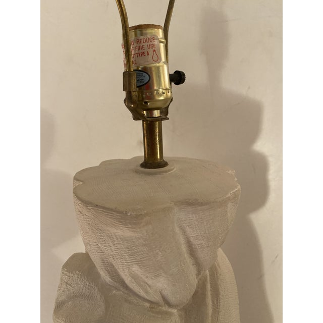 Beige Pair of Plaster Lamps on the Style of John Dickinson For Sale - Image 8 of 13