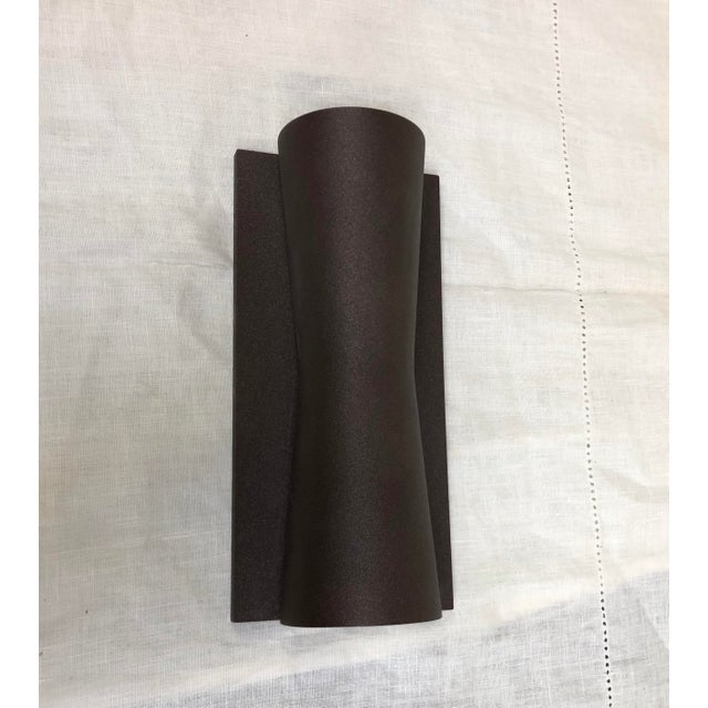 Metal Deep Brown Clessidra Outdoor Wall Sconce by Flos For Sale - Image 7 of 7