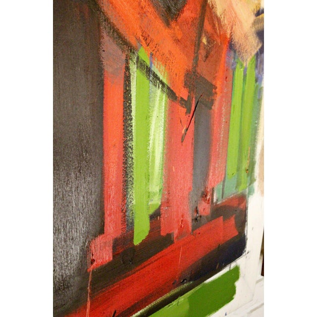 Canvas Contemporary Modern Abstract Acrylic Canvas Painting Hugh O'Donnell For Sale - Image 7 of 10