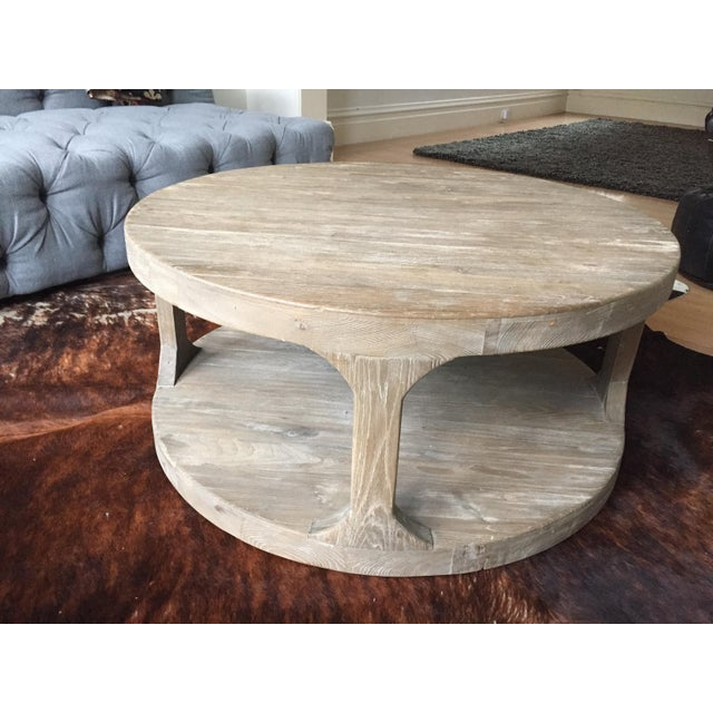 Restoration Hardware Marble Coffee Table: Restoration Hardware Martens Round Coffee Table