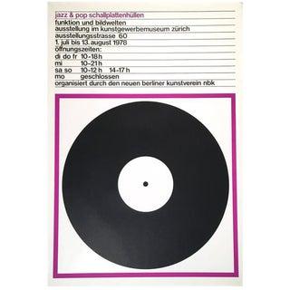 Swiss Vinyl Record Album Exhibition Poster, 1978