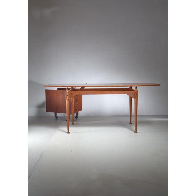 Poggi Franco Albini Tl3 Desk for Poggi, Italy, Early 1950s For Sale - Image 4 of 5