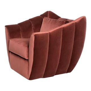 Studio Van den Akker Goddard Swivel Club Chair For Sale