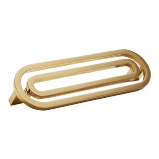 Deco-5.5S Polished Brass No Lacquer Handle For Sale