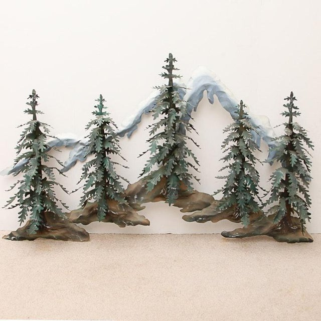 Woodland Scene With Mountains Metal Wall Sculpture For Sale - Image 9 of 9
