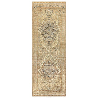Antique Persian Tabriz Runner Rug - 5′8″ × 15′3″ For Sale