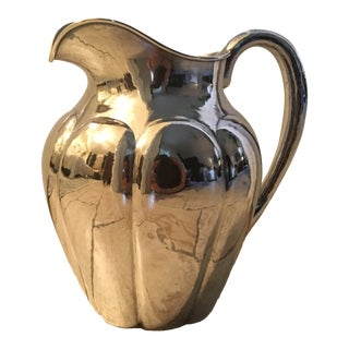 Kalo Shop Sterling Silver Hand Wrought Pitcher For Sale