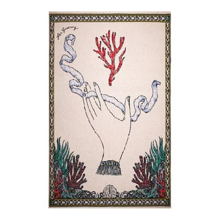 Fee Greening - Branching Fire Coral Cashmere Blanket, 51' X 71' For Sale