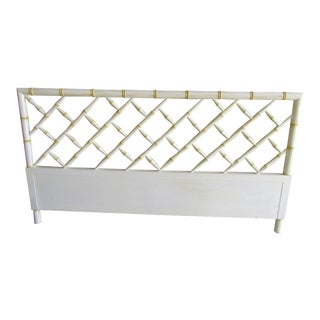 Vintage Faux Bamboo Chippendale Headboard