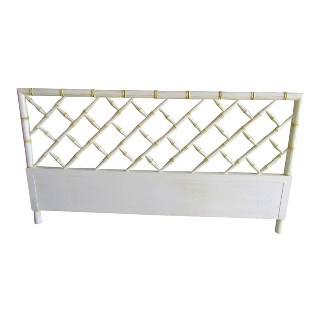 Vintage Faux Bamboo Chippendale Headboard - Image 1 of 7