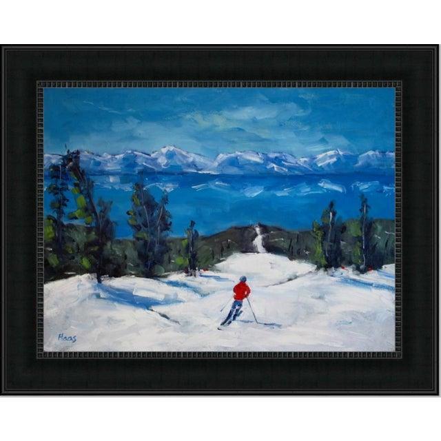 Diamond Peak Run Original Oil Painting Landscape For Sale - Image 11 of 12