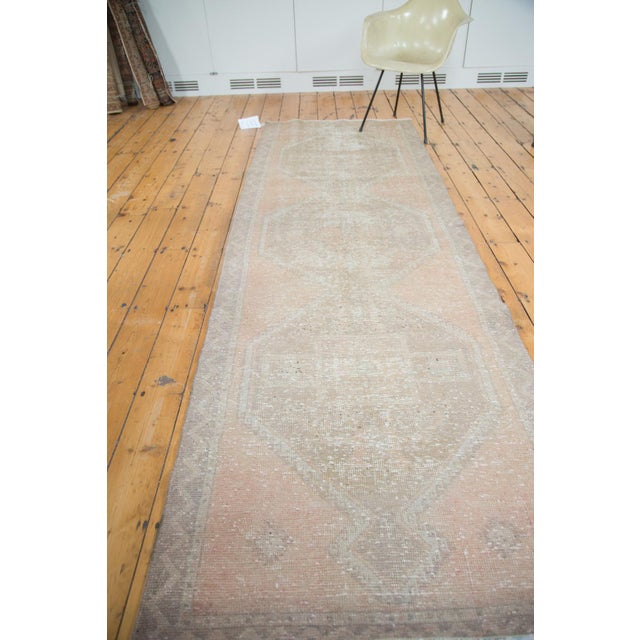 "Distressed Oushak Rug Runner - 3'5"" X 10'9"" - Image 4 of 8"