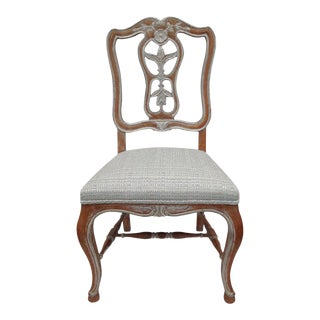 Antique French Parcel Gilt Silver Accent/Side or Desk Chair For Sale