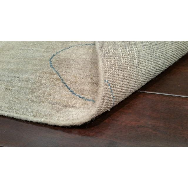Art Deco Modern 8 Ft. Contemporary Design Handmade Knotted Runner Rug - 2x8 For Sale - Image 3 of 3