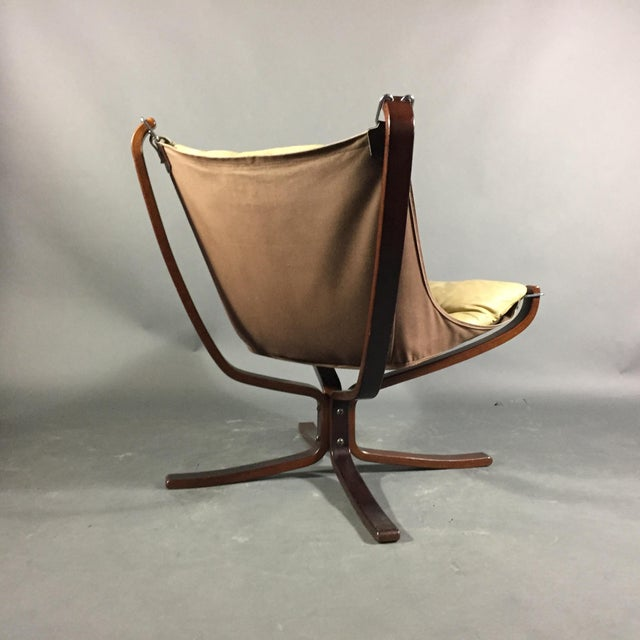 """Sigurd Ressell Yellow """"Falcon"""" Low Back Lounge Chair, 1970s For Sale - Image 10 of 12"""