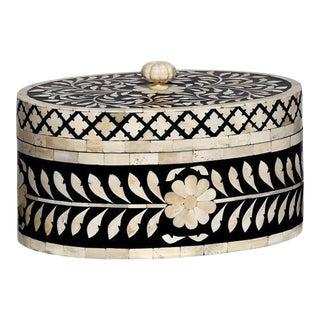 Casa Cosima Maison Box in Black & White, Oval For Sale