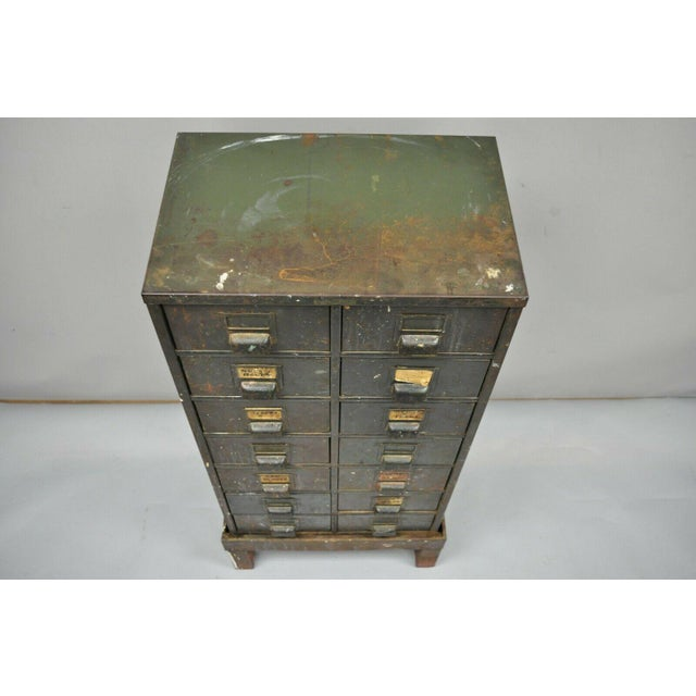 Industrial Antique Industrial Cabinet For Sale - Image 3 of 11