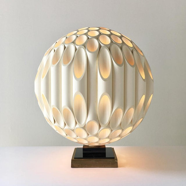 Rougier Rare Spherical Rougier Designed Table Lamp Late 1970s For Sale - Image 4 of 4