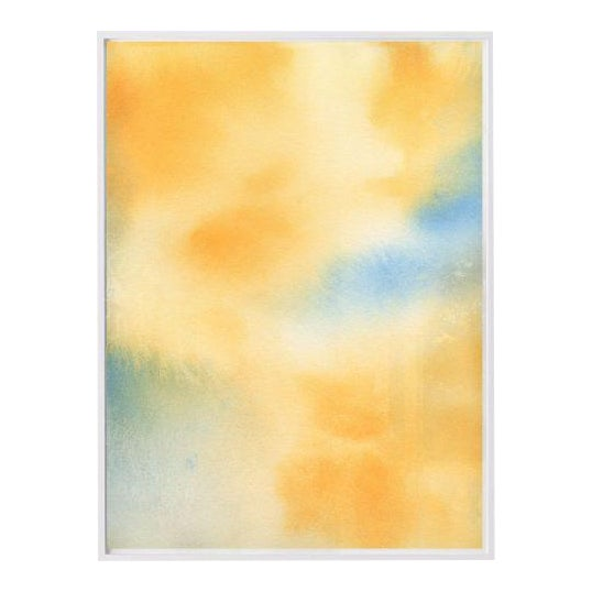 """""""Untitled (Yellow Abstract)"""" Unframed Print For Sale"""