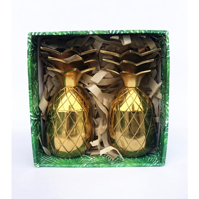 The Pineapple Co. Brass Shot Glasses - A Pair - Image 4 of 6