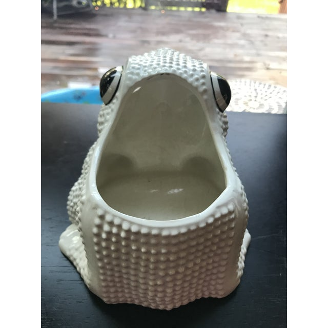 Vintage Mid Century Hobnail Textured Italian Frog Planter For Sale In Charleston - Image 6 of 9