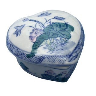 Vintage Chinoiserie Heart-Shape Box