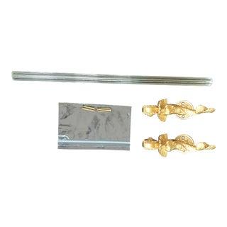 """Modern Sherle Wagner 24-Karat Gold Dolphin 18"""" Towel Bar For Sale"""