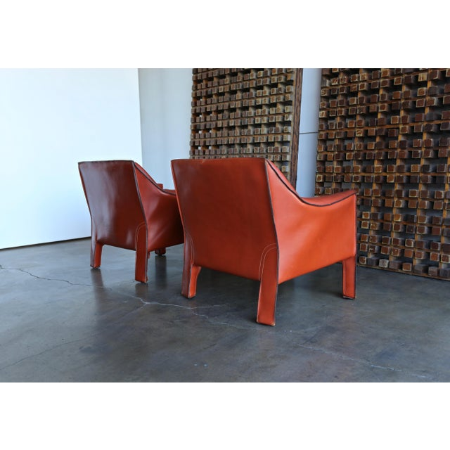 Animal Skin Mario Bellini for Cassina Large Cab Lounge Chairs - a Pair For Sale - Image 7 of 13