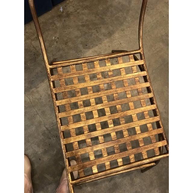 Mid Century Italian Gilded Gold Curule Bench - Image 10 of 12
