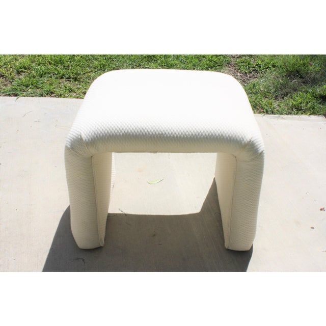 1980s Vintage Waterfall Stool For Sale - Image 5 of 11