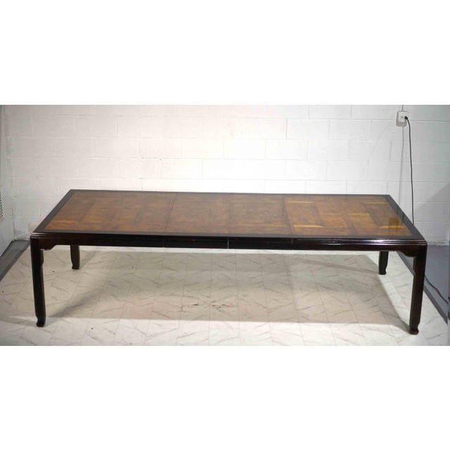 Mid-Century Modern 1970s Chinoiserie Burlwood Dining Table by Century Furniture For Sale - Image 3 of 12
