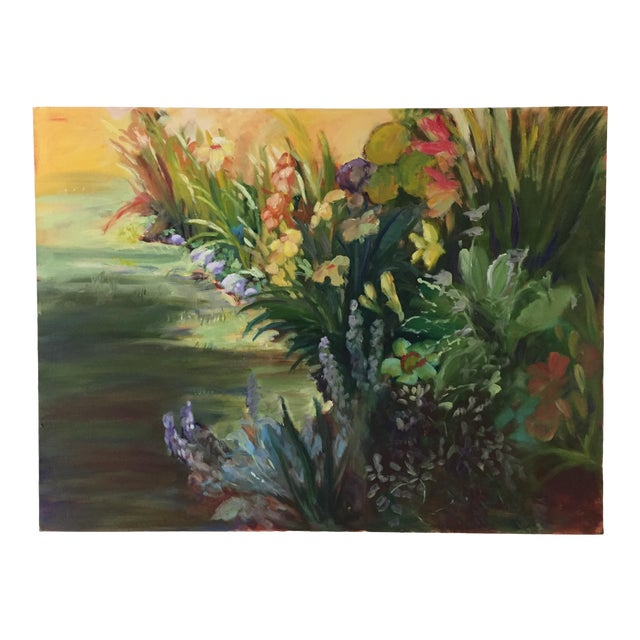 """""""Garden Flowers"""" Botanical Still Life Oil Painting by Marina Movshina For Sale"""