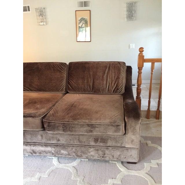 Mushroom Velvet Over Sized Lounge Sofa Chairish