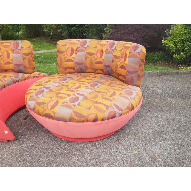 "Rare 80's Vladimir Kagan ""Comet"" Swivel Sectional Sofa For Sale - Image 9 of 11"