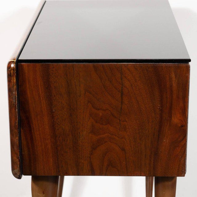 Mid-Century Modern Pair of Mid-Century Italian Nightstands/End Tables in Exotic Bookmatched Wood For Sale - Image 3 of 12