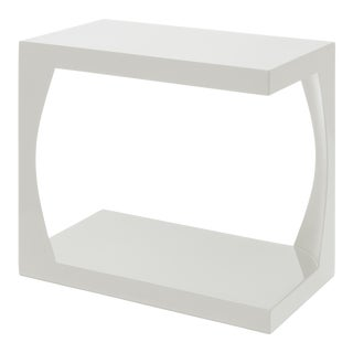 Veere Grenney Collection Embankment Side Table in Slate White For Sale