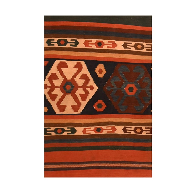 Tribal Antique Caucasian Kilim Rug For Sale - Image 3 of 4