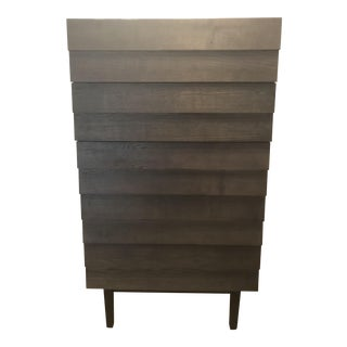 West Elm Louvered 5-Drawer Highboy Dresser