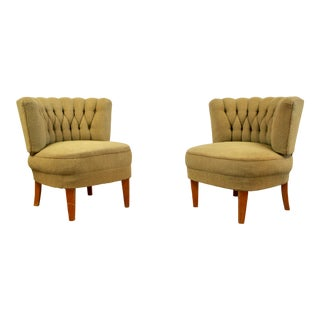 1940s Vintage Otto Schulz Easy Chairs - a Pair For Sale
