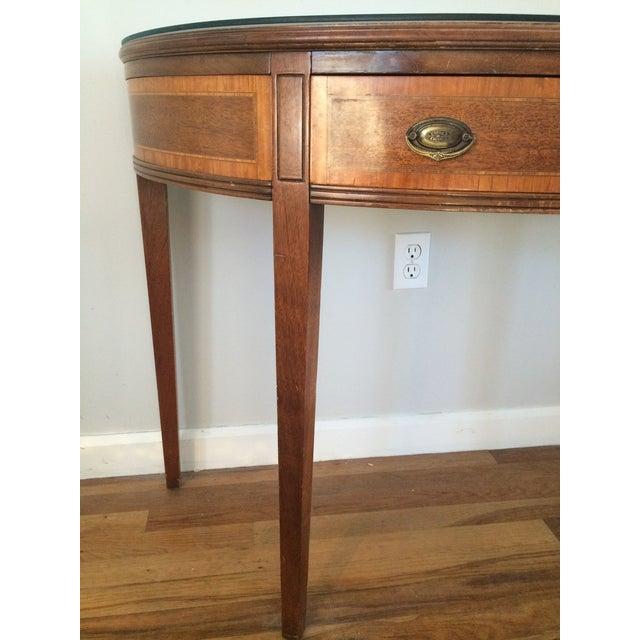 Vintage Hepplewhite Demi-Lune Table - Image 7 of 9