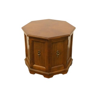 20th Century Traditional Mastercraft Grand Rapids Octagonal Storage Cabinet For Sale