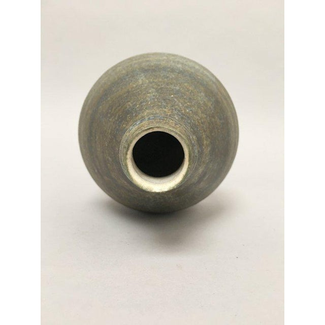 1960s Scandinavian Modern Hald Soon Studio Ceramic Bottle Vase For Sale In New York - Image 6 of 9