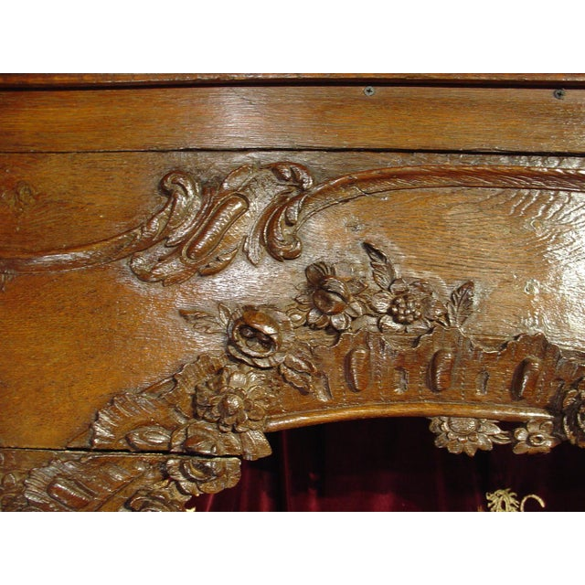 Brown Antique French Boiserie Door Surround from the 1700s For Sale - Image 8 of 11